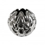 Molten Scalloped Silver