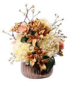 Mixed Hydrangea Cymbidium Cherry Blossom Roses