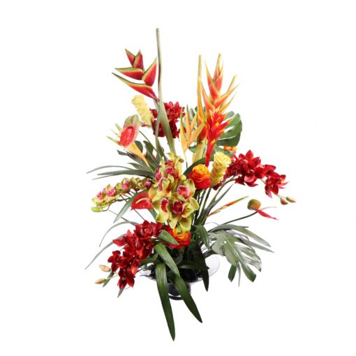 Tropical mix heliconia, anthurium, cymbidium, monstera