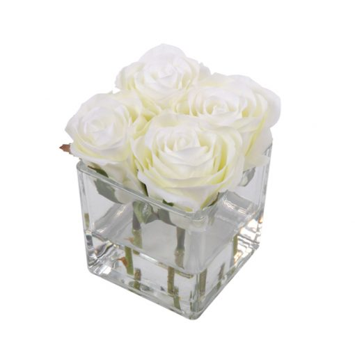 White roses set of 4